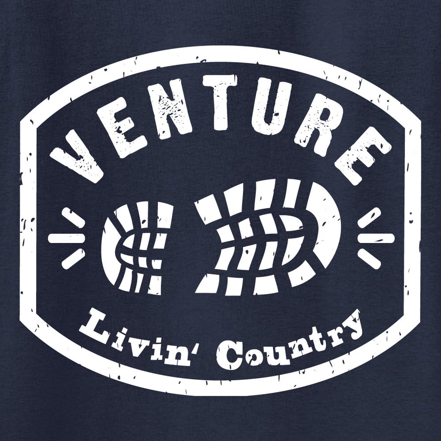 Adult Livin' Country Venture Boot T-shirt