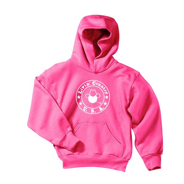 Youth Livin' Country Logo Hoodie - Livin' Country Apparel & Accessories  - 2