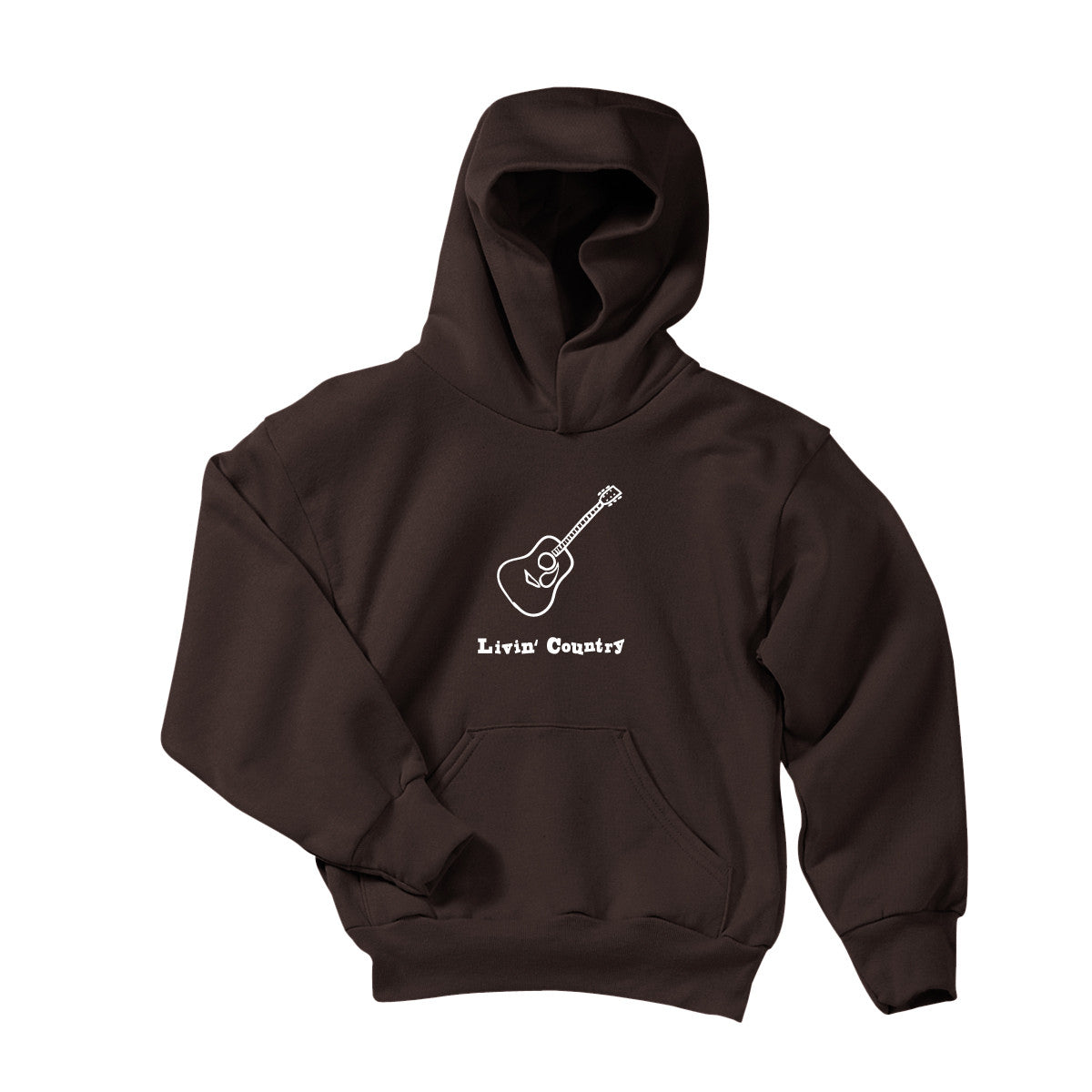 Youth Livin' Country Guitar Hoodie - Livin' Country Apparel & Accessories  - 1