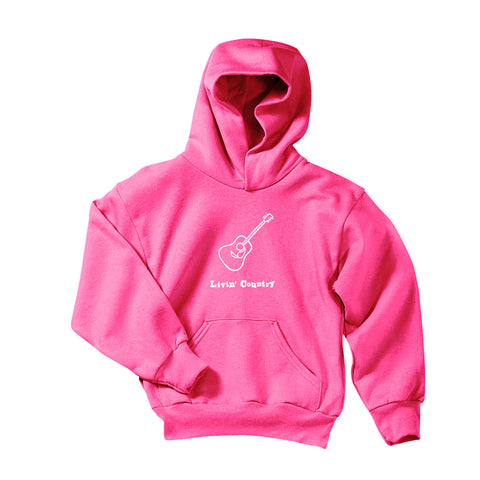 Youth Livin' Country Guitar Hoodie - Livin' Country Apparel & Accessories  - 2