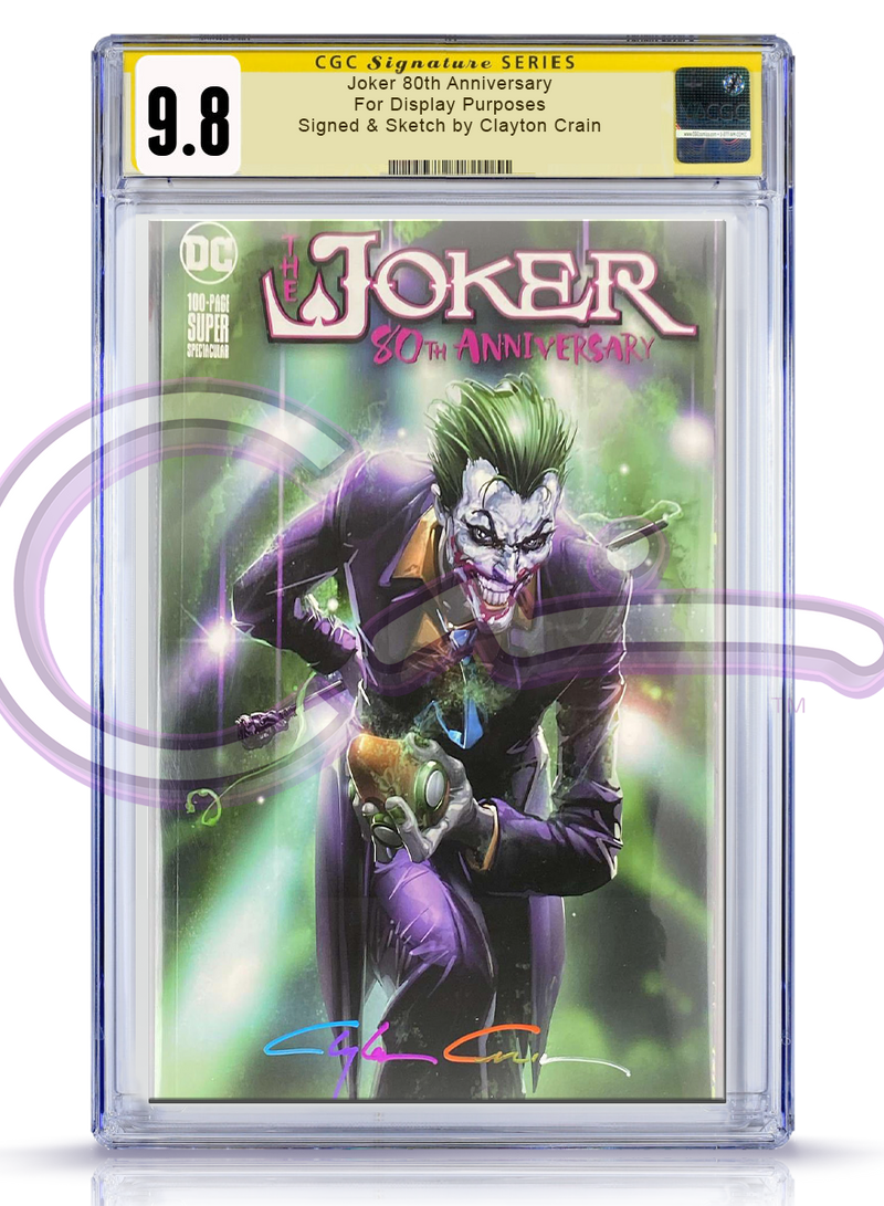 CGC Signature Series 9.8 Joker 80th Anniversary Trade Dress Maniacal Revision