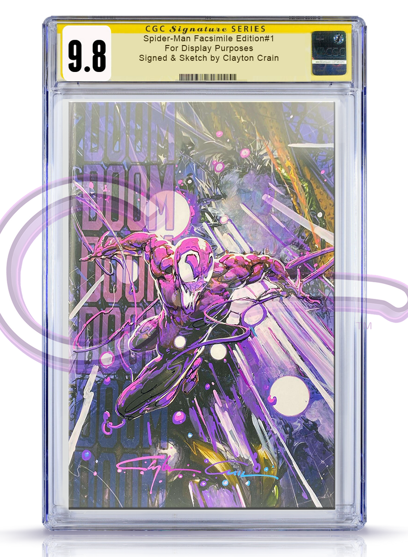 CGC Signature Series 9.8 Spider-Man Facsimile Edition #1 BubbleGum Revision
