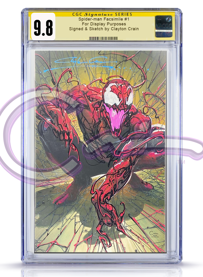 CGC Signature Series 9.8 Spider-Man: Facsimile Edition #1 Carnage Revision