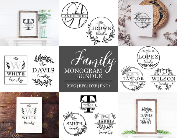 Family Monogram SVG Bundle