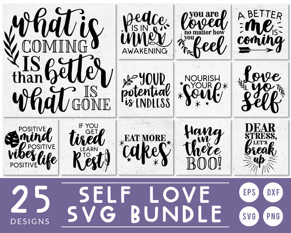 Self-Love Quote SVG Bundle