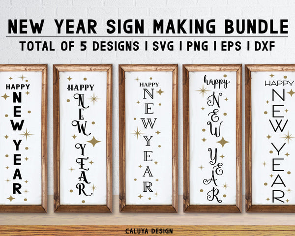 New Year Sign Making SVG Bundle
