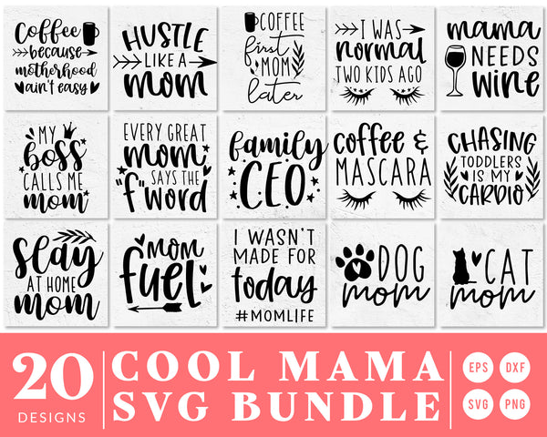 Cool Mom Quote SVG Bundle