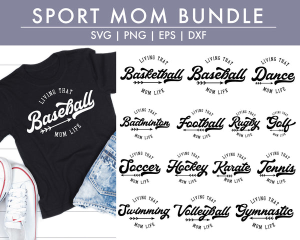 Sport Mom T-shirt Making SVG Bundle