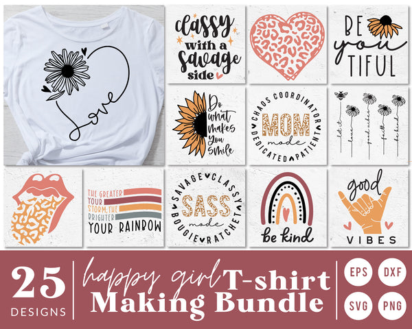 Woman T-Shirt Making SVG Bundle