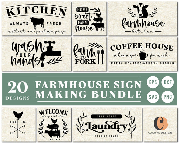 Farmhouse Sign Making SVG Bundle