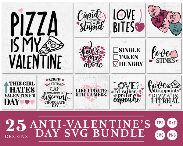 I Hate Valentine's Day SVG Bundle