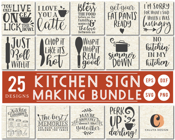 Kitchen Sign Making SVG Bundle