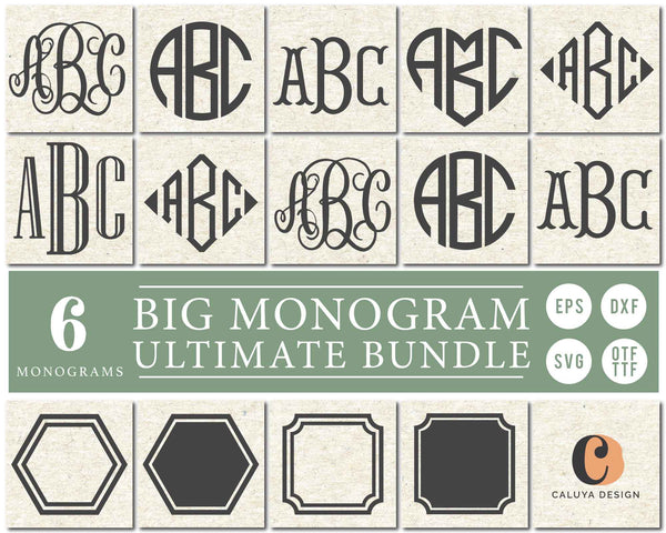Big Monogram SVG & Font Bundle