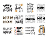 BIG! Mom T-shirt Making Quote SVG Bundle