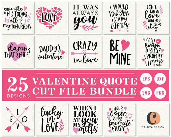 Valentine's Day Quote SVG Bundle