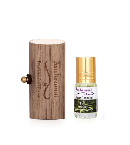 Ambrosial 3ml Jasmine Gift Set Natural Indian Attar Perfume Concentrate Oil