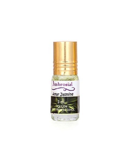 Ambrosial 3ml Jasmine Pure & Natural Indian Attar Perfume Concentrate Oil