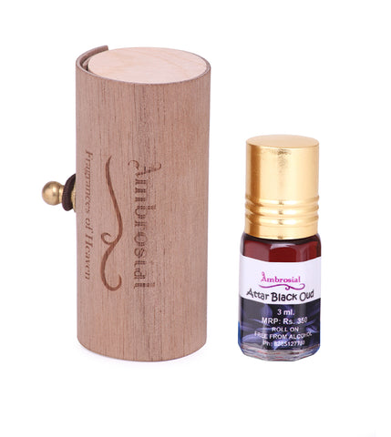 Ambrosial 3ml Black Oud Gift Set Natural Indian Attar Perfume Oil Extrait De Parfum