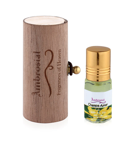 Ambrosial 3ml Champa Gift Set Natural Indian Attar Perfume Concentrate Oil