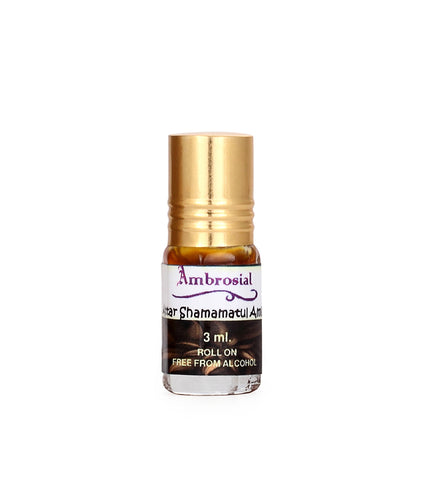 Ambrosial 3ml Shamamatul Amber Pure & Natural Indian Attar Perfume Concentrate Oil