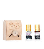 Ambrosial Gift Set 3ml-2 Attar Black Musk White Oud Perfume Oil Exotic Fragrance