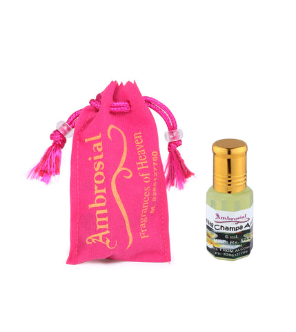 Ambrosial 6ml Nag Champa Pure & Natural Indian Attar Perfume Concentrate Oil