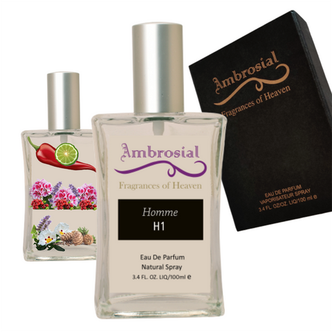 Ambrosial Homme H1 100ml 3.4oz Eau De Parfum for Men