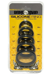 Boneyard Silicone Ring 5 Pcs Kit Black