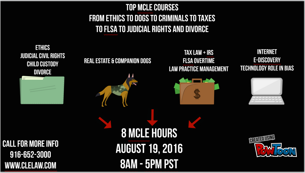 Discover Live MCLE Event August 19 2016 8 am to 5 pm PST