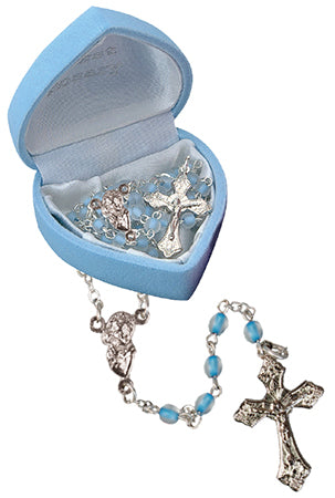 Glass Baby Rosary/Blue (6112/BL)