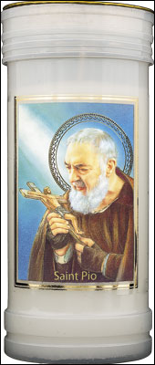 Candle St Pio