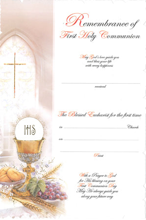 Communion Certificate