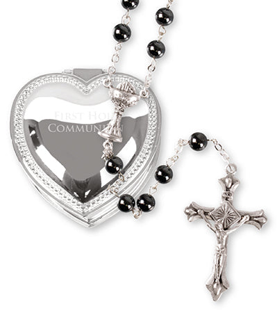 Communion Rosary Beads