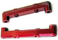 TRINTIY 0/4 2 DEG REAR ARM MOUNTS RED ALUMINUM #TMF1108
