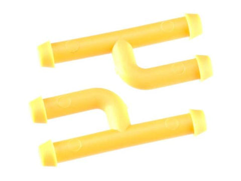 Dubro In-Line Fuel Connector w/Plug Yellow (2)