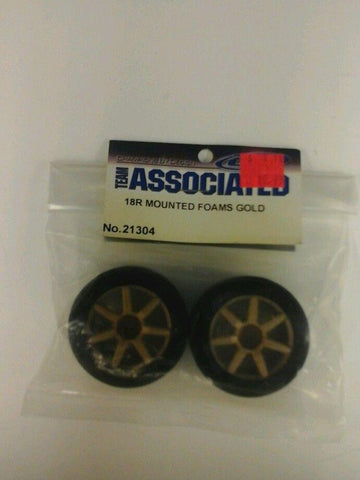 Associated 18R Mounted Foams(Gold) 21304