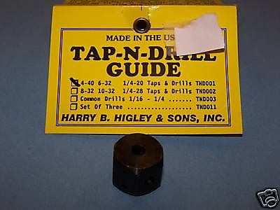 TAP-N-DRILL GUIDE 1/4-20 TAPS AND DRILLS TND001