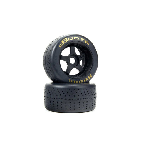 1/7 dBoots Hoons Rear 107 Gold Pre-Mounted Belted Tires, 17mm Hex (2)