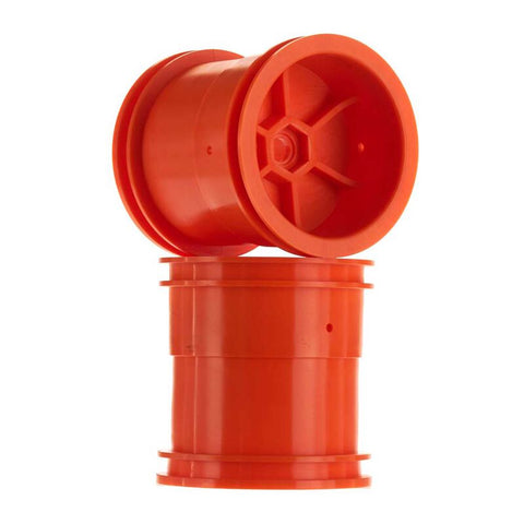 1/10 2.2 Monster Truck Wheels, 12mm Hex, Orange (2)