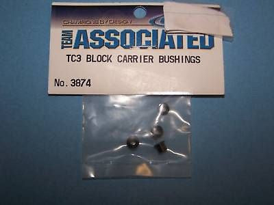 TEAM ASSOCIATED TC3 BLOCK CARRIER BUSHINGS #3874