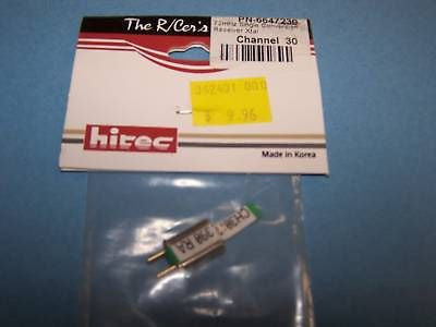 HITEC 72mHz SINGLE CONVERSION RECEIVER CRYSTAL AM/FM CH. 30 #6647230