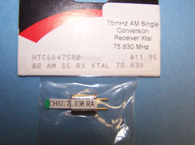 HITEC 75mHz SINGLE CONVERSION RECEIVER CRYSTAL (75.830 MHz) AM CH 82 #6647582