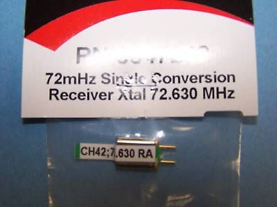 HITEC 72mHz SINGLE CONVERSION RECEIVER CRYSTAL CH. 42