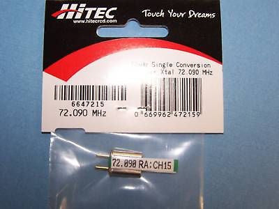 HITEC 72mHz SINGLE CONVERSION RECEIVER CRYSTAL (72.090 MHz) CH. 15 #6647215