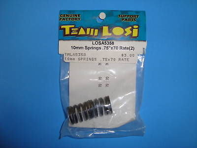 TEAM LOSI 10MM SPRINGS .75X70 RATE (2) #A-5358