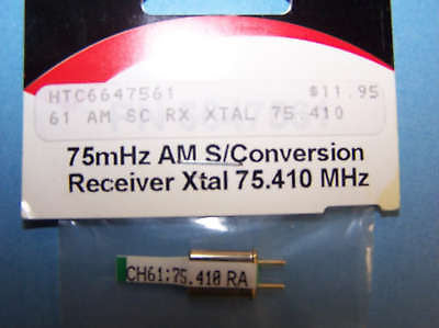 HITEC 75mHz SINGLE CONVERSION RECEIVER CRYSTAL (75.410) AM CH 61 #6647561