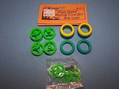 OKAMI HIGH SPEED WHEEL & TIRE SET LIME NEW TYPE NO #26G