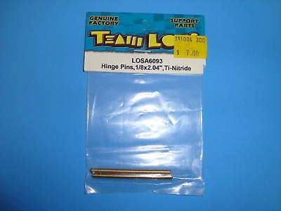 "TEAM LOSI HINGE PINS, 1/8X2.04"" FOR TI-NITRIDE #A-6093"