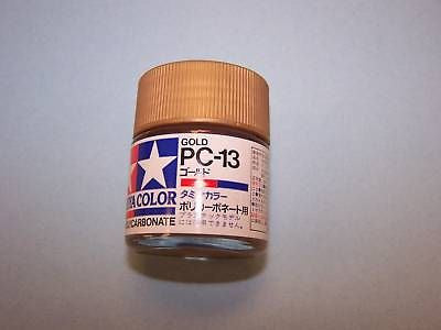 TAMIYA GOLD COLOR PAINT FOR POLYCARBONATE # PC-13