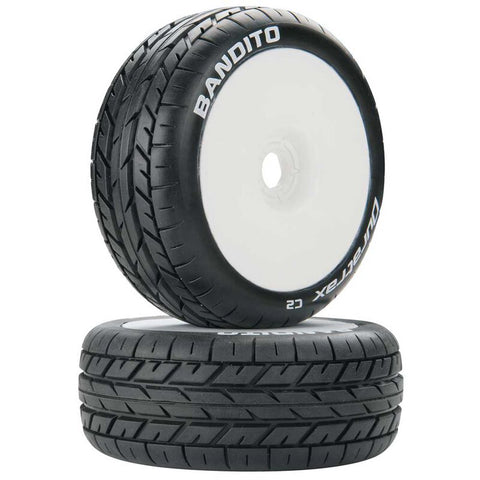Bandito 1/8 Buggy C2 Mounted Buggy Tires, White